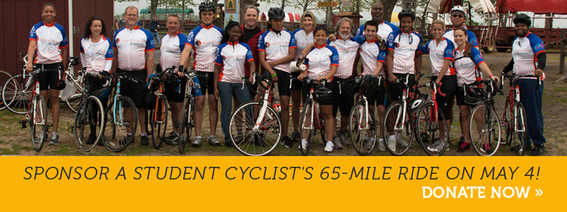 Sponsor a student cyclist's 65-mile ride on May 4!  Donate now »
